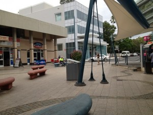 The Lithgow Street mall is  underused as an attraction to Queen Street.