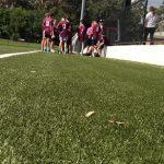 synthetic turf football field at Lynwood Park.