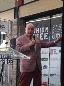 Alan Jones opening Fashion Spree on March 13, 2016.