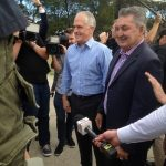 Russell Matheson with the Prime Minister Malcolm Turnbull during campaigning for the July 2 federal election.