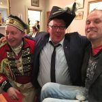 Steve Wisbey, centre, at upstairs@freds, which will host the Greek Carnevale night on Saturday, February 25.