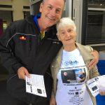 Gary Potts with his helper Val at the Ingleburn prepoll last week.