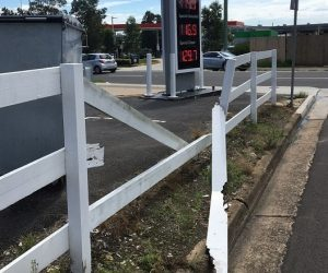 time this fence near Queen Street in Campbelltown was fixed