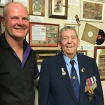 Fred Denny, right, with Tim Bennett-Smith, the president of the Picton-Thirlmere-Bargo RSL sub branch