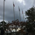 The flags - Aboriginal, Filipino, Australian and NSW - are up