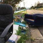 This week's garbage pile in Broughton Street