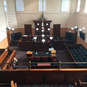 Beautiful old court room brings back memories for Duffy