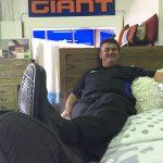 Warren Morrison in his Blaxland Road store