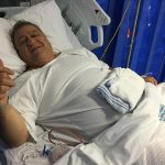 About to go under the knife to have two hernias removed at Campbelltown Hospital.