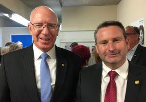 Governor David Hurley with MP Greg Warren