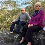 Pat and Barry Durman near the Basin at Kentlyn: national park would offer long term protecion for the local koala colony.