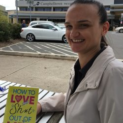 author Sally-Anne Hurley at Park Central last week.