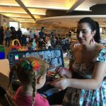 Mandy from Amy Grigg Face Painting was kept busy during the launch of the Wests Group Macarthur Big Yellow Umbrella partnership on Thursday morning.