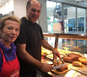 Roula and Sotiris Zafiropoulos in their Chicken Wizard take away at Mt Annan.