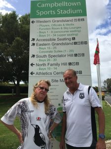 Paul Taylor, left, and Wayne Ellison are determined to bring back the Magpies nest to the NRL and playing all their home games out of Campbelltown Sports Stadium.