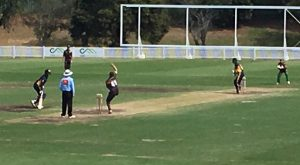 Ghosts bowling to Sydney University yesterday in a Kingsgrove Sports T/20 Cup finals fixture at Raby Sports Complex yesterday afternoon.