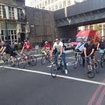 Good fun: cyclists hit the road.