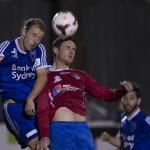 Action from Sunday night's dramatic encounter
