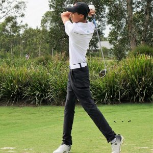 Young golfer shows the way
