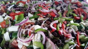 Roula makes one of the best Greek salads this side of the Mediterranean.