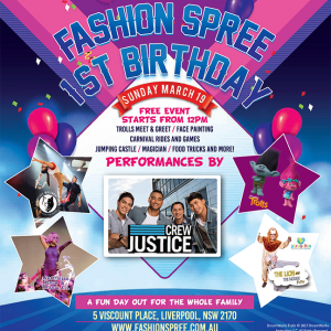 Fashion Spree birthday party to be a great day for whole family