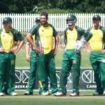 The Ghosts celebrate another ACT wicket on Sunday at Manuka Oval.