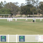 Ghosts third grade players celebrate one of the five wickets that Jackson Isakka took on Saturday.