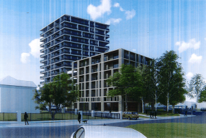 An artist's impression of the Cordeaux Street development, as part of the development application.