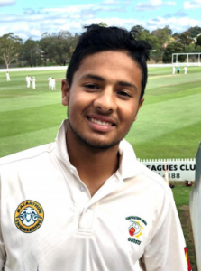 Young leggie Tanveer Sangha, who is just 16, took 5 for 79 for Campbelltown Camden Ghosts against Gordon on Saturday.