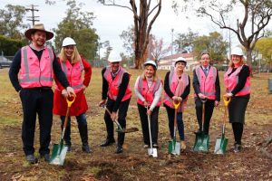At the sod turning ceremony for Livvi's Place Warragamba