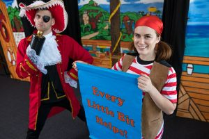 Nick James and Tayla Johnston, who will be performing in The Water Pirates of Neverland at Leppington Public School tomorrow, March 21.