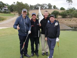Team Club Menangle: Ken White, Warren Nash, chief executive Bruce Christison and Michael Court at the South West Sydney Academy of Sport annual golf day. Club Menangle is also the academy's hockey program sponsor.
