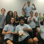 Ambarvale High students from Years 7,8 and 9 who took part in the program to develop leadership skills.