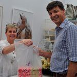 MP Angus Taylor, pictured here with small business owner Janarie Micallef