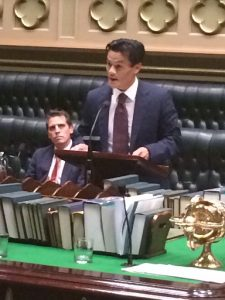 Anoulack Chanthivong delivering his maiden speech in the NSW Parliament