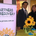 Anoulack Chanthivong and mental health advocate Sandra McDonald.