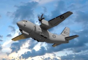 A RAAF C27 Spartan plane