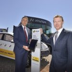 Darren Chester with the chief executive of ANCAP James Goodwin launching the ANCAP Safety app