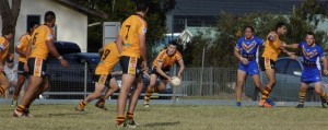 Thirlmere on the attack against the visiting Campbelltown City Kangaroos on Sunday. Pictures: Mike Shean.