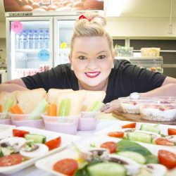Brooke Flanagan with some of her Brooke's Canteen healthy and nutritious creations.