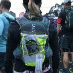 Carolyn Knights carried the fighting spirit of her grandson Hector in a picture on her backpack. Hector sadly passed away six weeks earlier.