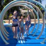 Camden youngsters having fun at the official opening of Curry Reserve water play space last week.