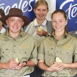 Elderslie High students at the launch of the Easter Show competition they won last year.