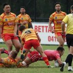 East Campbelltown start the second half against Belrose with a try