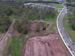 Site works begin on the sales centre and display homes at Edmondson Park Town