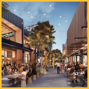 Artist's impression of Eds.Square's Eat Street.