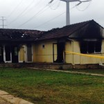 Nobody was home when this house in Ingleburn was gutted by fire overnight