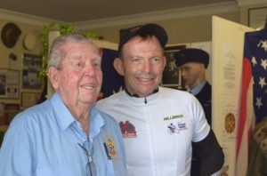 Tony Abbott wishes Fred Denny happy birthday