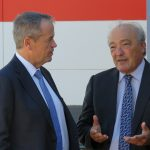 Dr Mike Freelander (right) with his Labor leader Bill Shorten.
