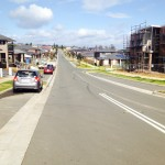 Speed street: Gawler Avenue, Minto this morning.